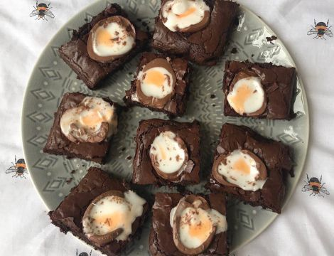 Creme Egg Brownies  image