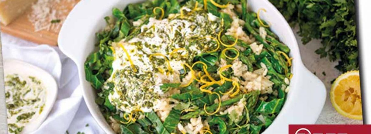 Recipe: Asparagus and Spring Greens Risotto image