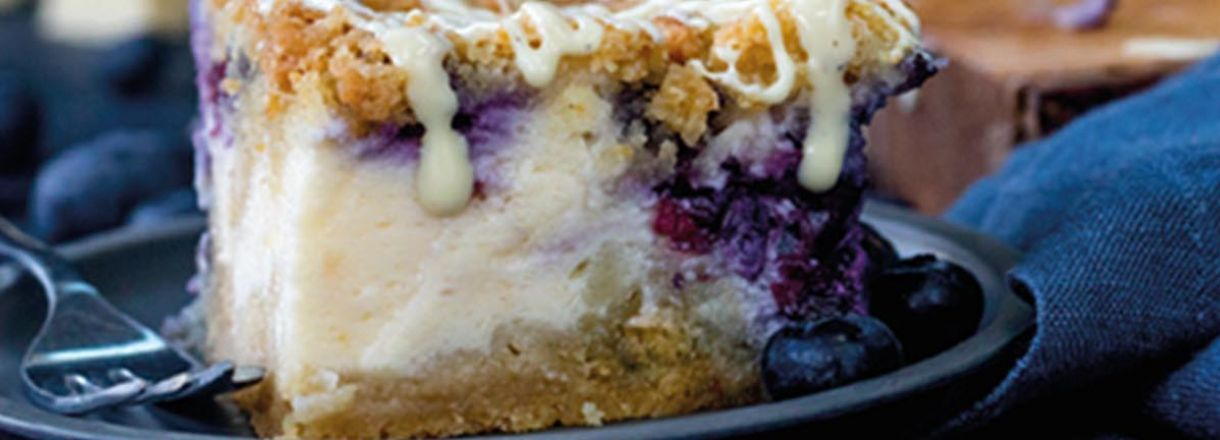 Recipe: Blueberry Cheesecake Crumble Bars  image