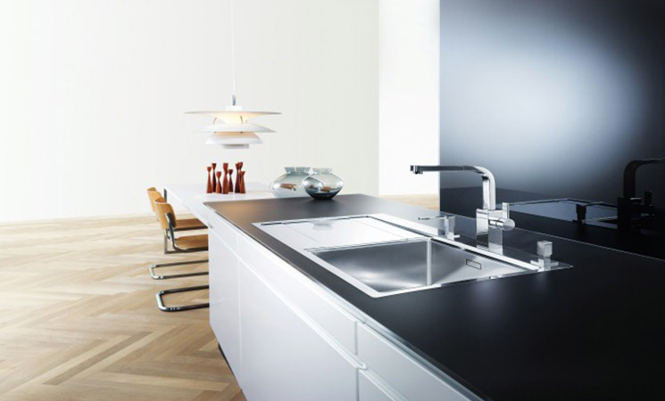 Blanco stainless steel Sink and tap