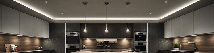 Sensio modern furniture lighting for fitted kitchens