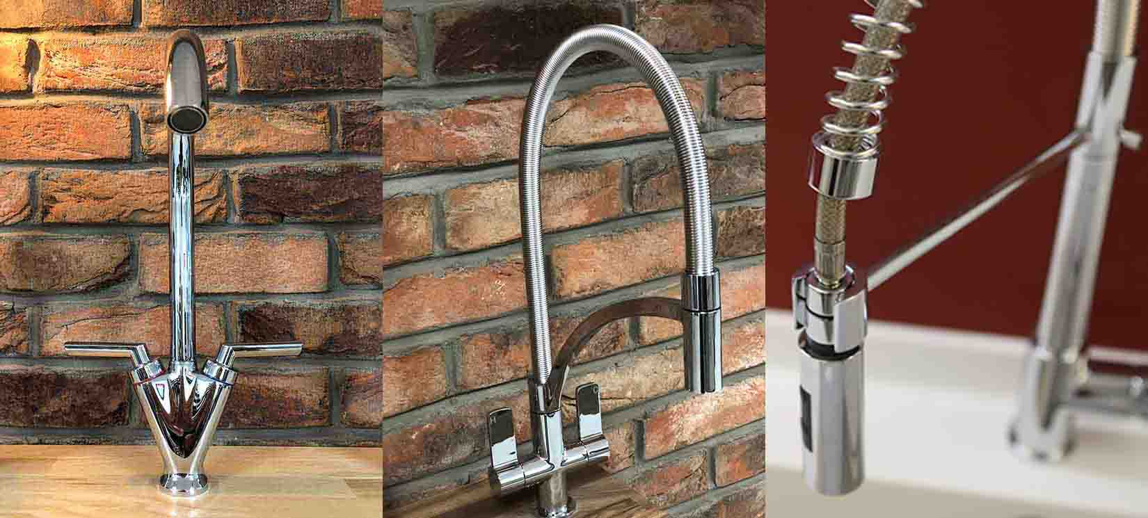 Types of tap spout - swivel, pull-out spray and spring neck taps