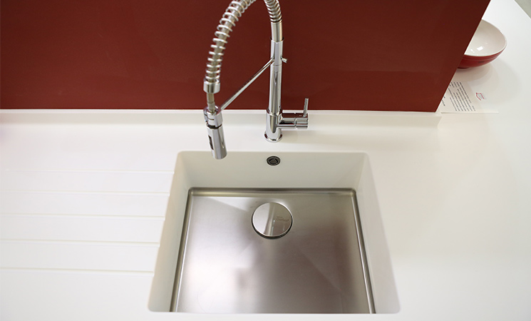 Small and compact square sink