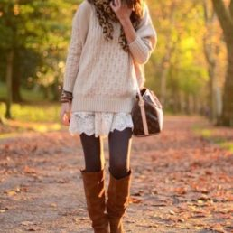 Autumnal fashion is cosy knits in warm colours