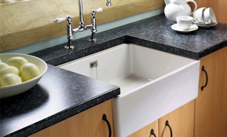 Iconic Belfast sink perfectly practical for a functioning farm kitchen