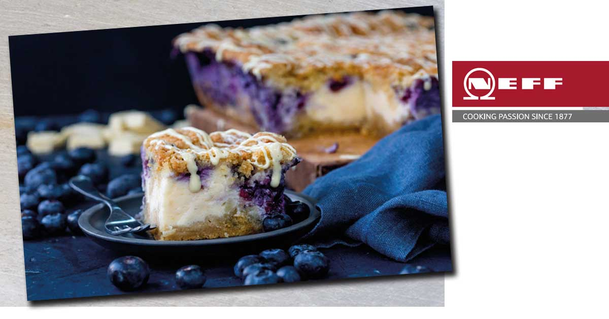 Neff Recipe Blueberry Cheesecake Bars