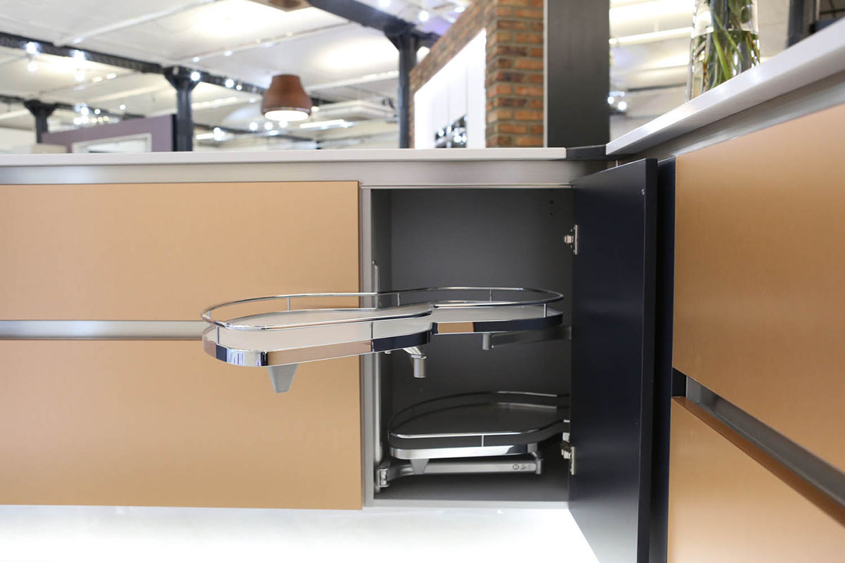 Kessebohmer smart storage for fitted kitchens