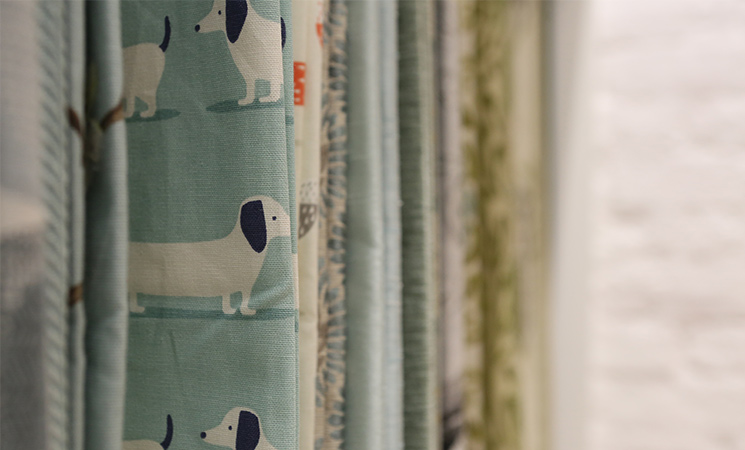 Browse our huge selection of made-to-measure curtain fabrics at our new showroom in Bristol.