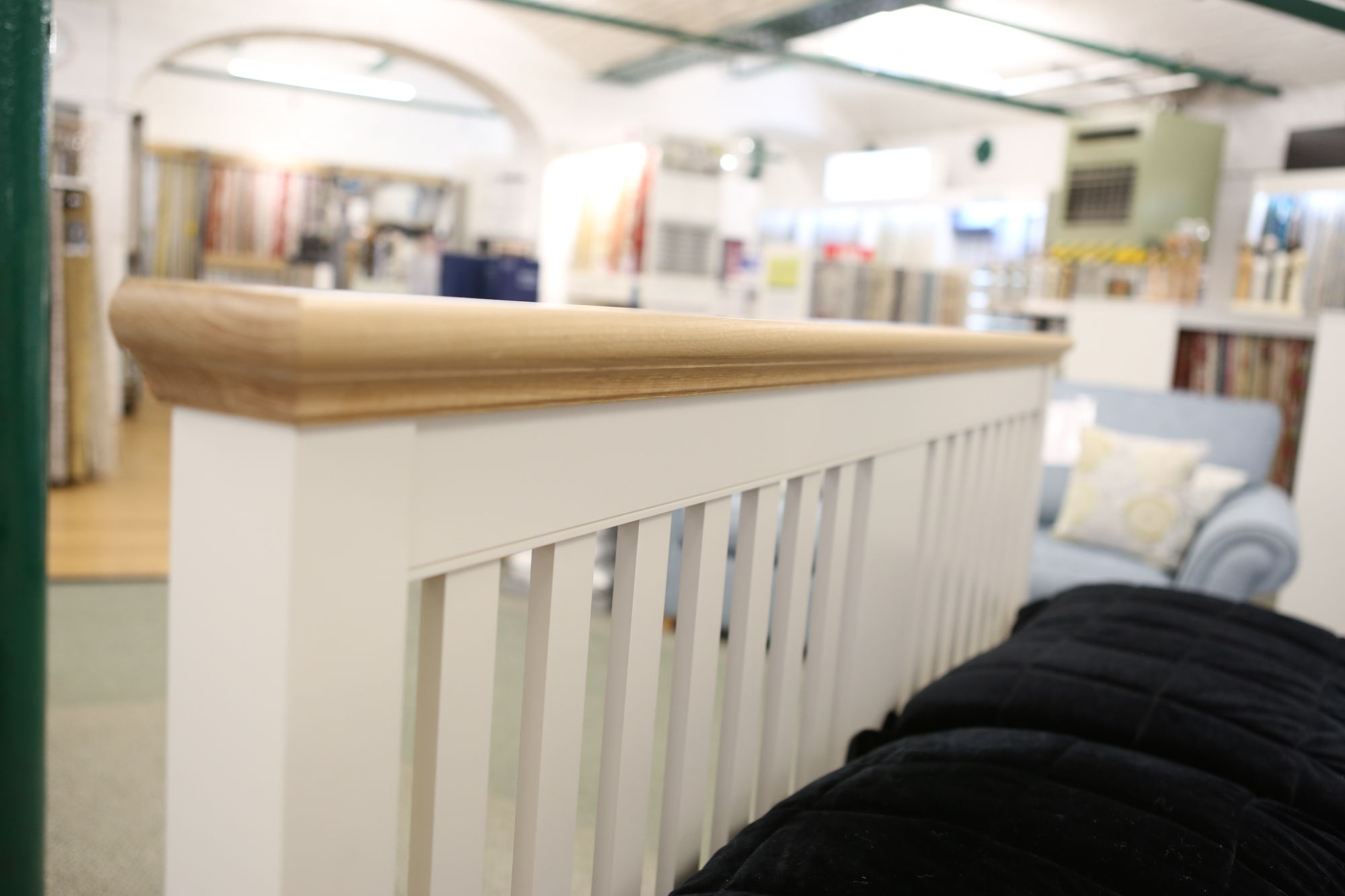 Bentley Designs Bed frame Bedstead at Gardiner Haskins Showroom.
