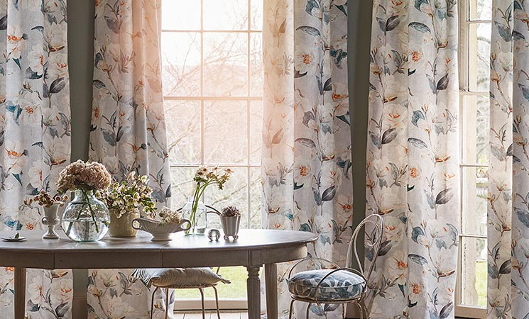Romo curtains and blind fabric.