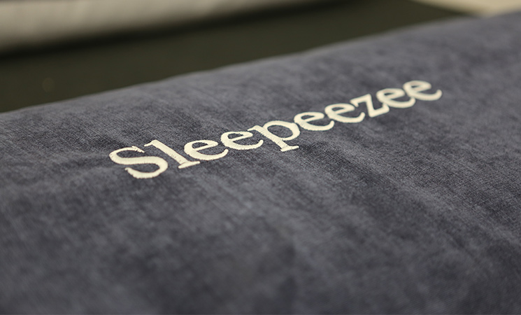 Sleepeezee: another premium brand offered at Gardiner Haskins Interiors' brand-new showroom.