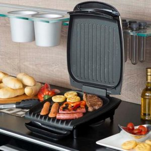 A george Foreman grill on a kitchen counter