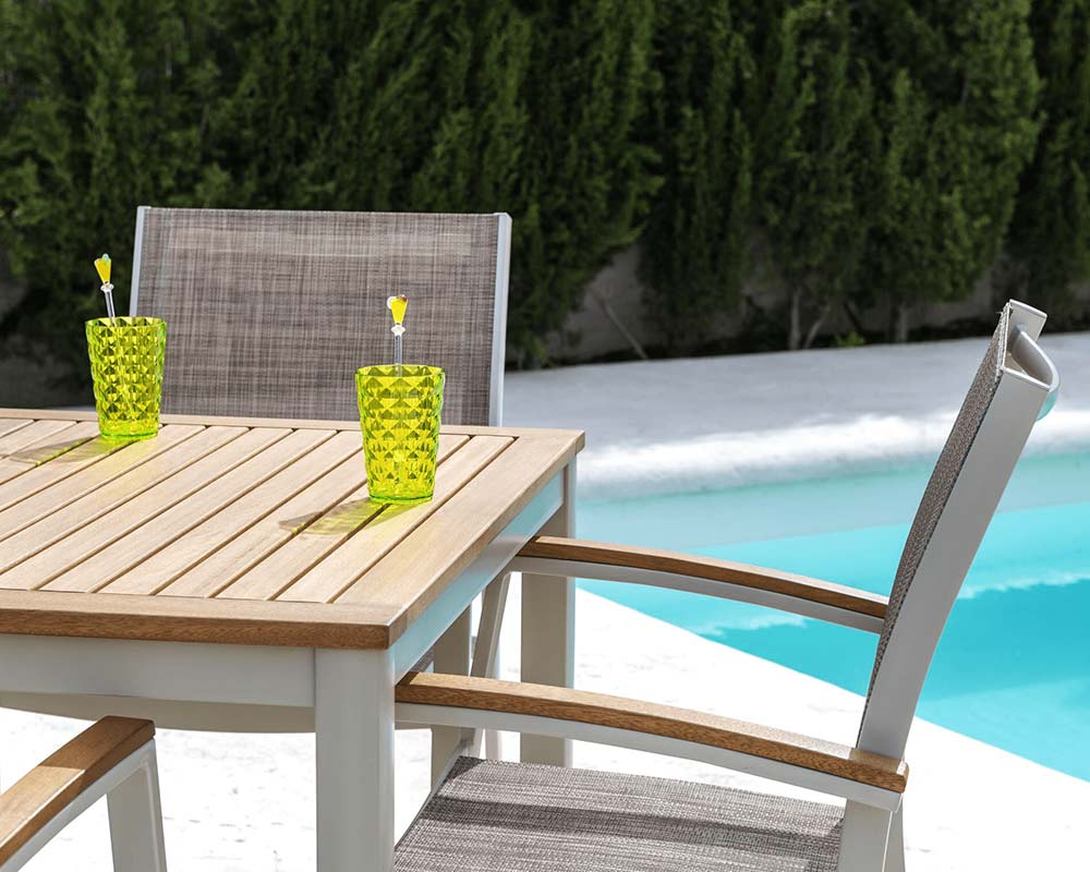 The Lifestyle Garden 4 seat dining set is perfect for dining al fresco with the family this summer. thumbnail one