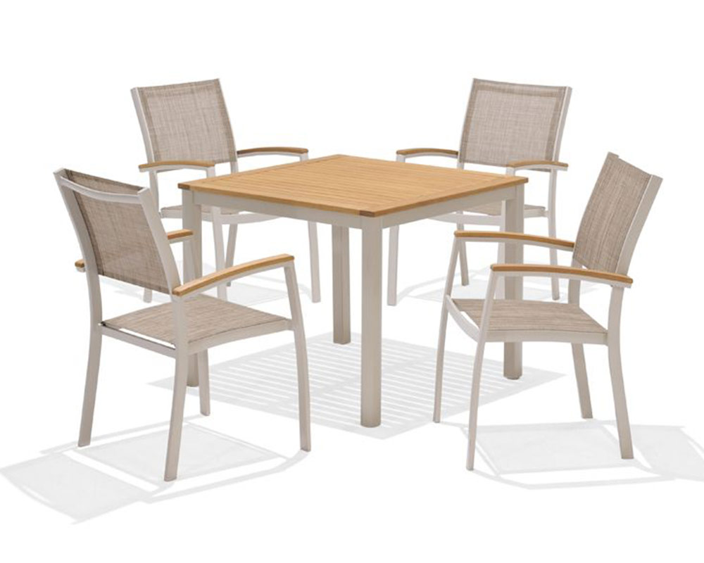 The Lifestyle Garden 4 seat dining set is perfect for dining al fresco with the family this summer. thumbnail three