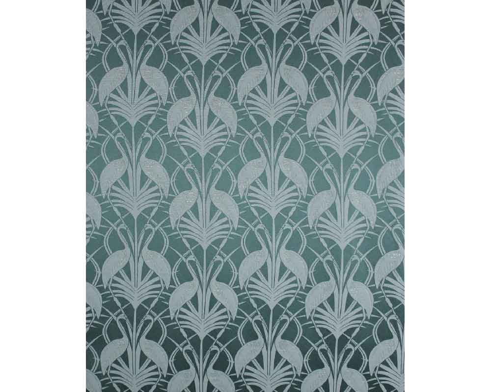 The Chateau by Angel Strawbridge Heron Curtains Teal - Width 168cm x 183cm Drop thumbnail two