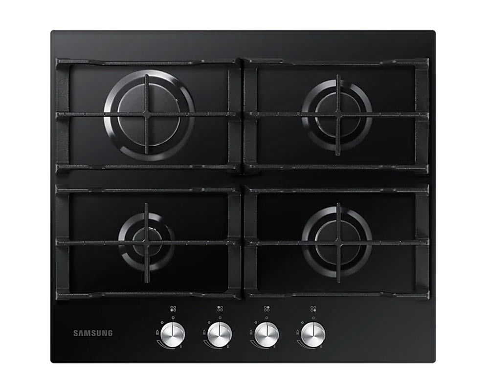 Samsung Built-in 4 Burner Gas Hob with Cast Iron Grates  NA64H3000AK/U1 thumbnail one