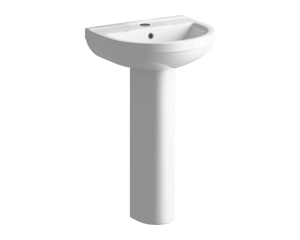 Bathrooms to Love - Laurus Basin with Full Pedestal  thumbnail one