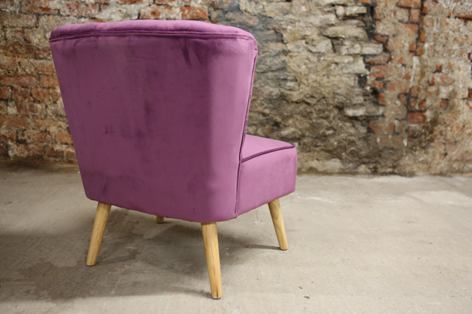 Decorate your living room with this indulgent, rich plum coloured velvet chair. Place this in a sunny spot for the perfect reading seat. thumbnail four