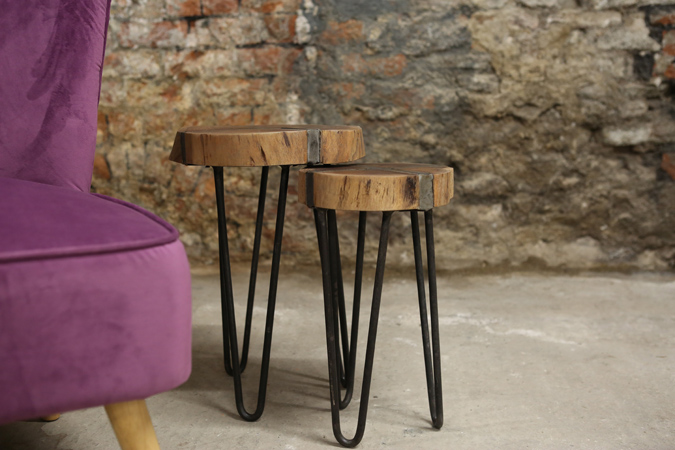 The nest tables are ideal for decorating your living room, hall way or conservatory. They have a rustic industrial feel. thumbnail two